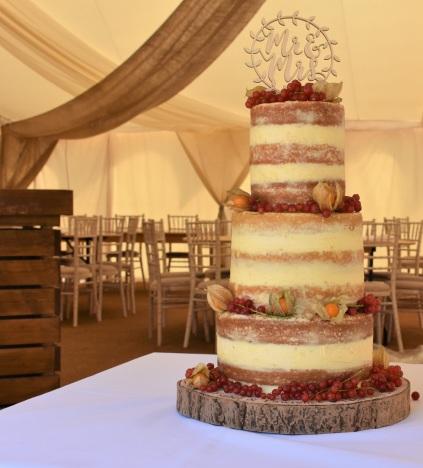 Lemon drizzle wedding cake
