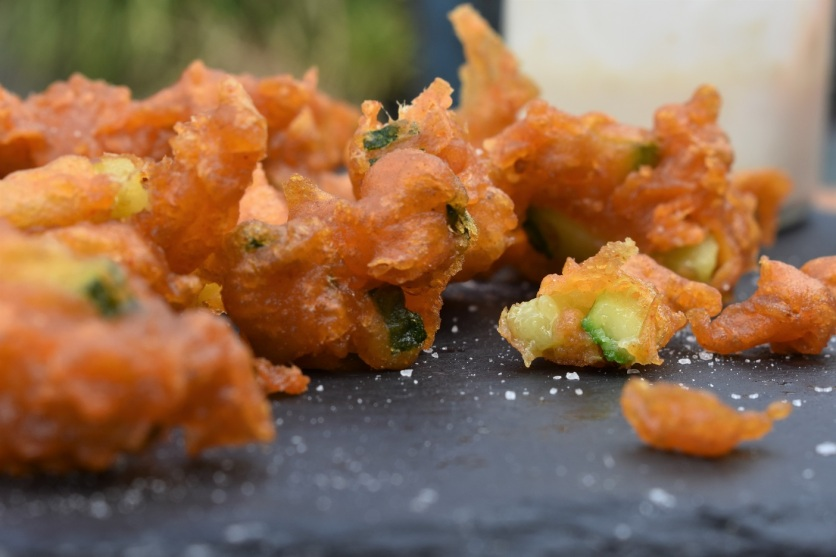 deep-fried spiced courgettes