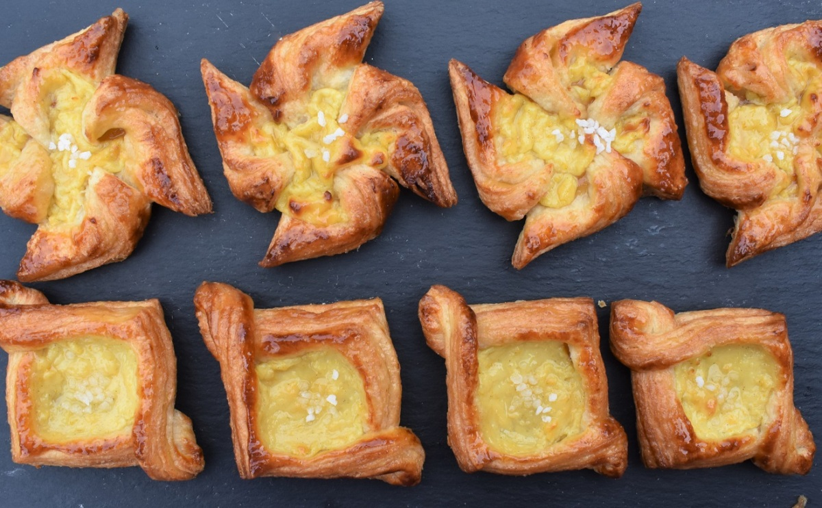 Easy spiced orange & vanilla Danish pastries