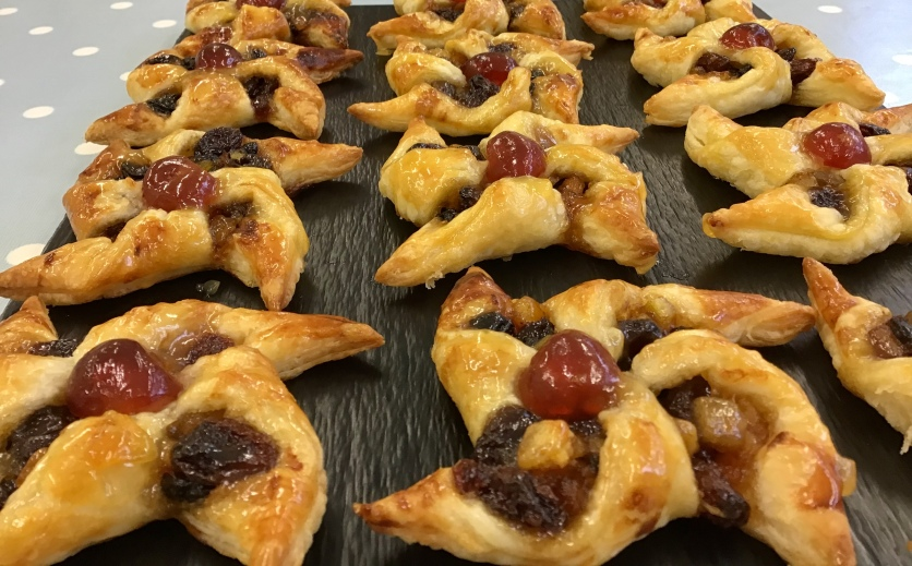 Festive Danish pastries