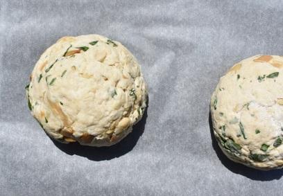 soda bread: shaped & ready to cut