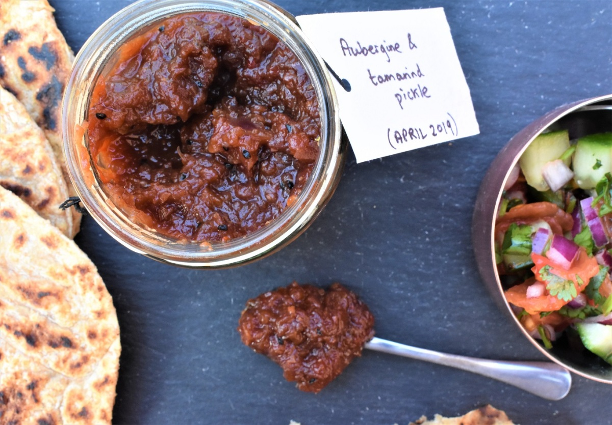 Spicy aubergine & tamarind pickle