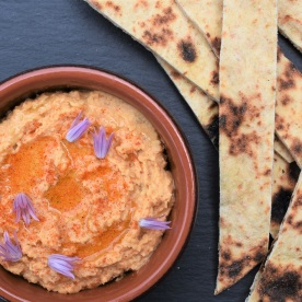 smoke. smoked, hummus. tahini, sesame, oil. chickpeas, spices. spiced, paprika, chick peas, chick pea, dip. bbq, homecook, philip, philip friend, philipfriend, BBC1, Surrey