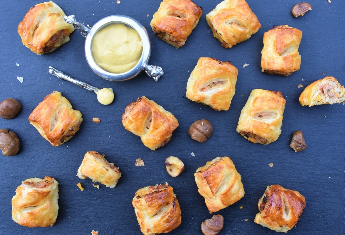 Christmas stuffing sausage rolls