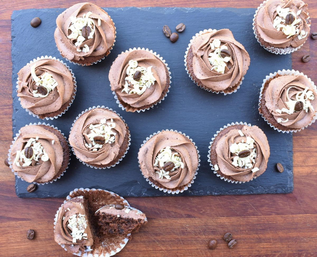 "My ""secret ingredient"" mocha cupcakes!"