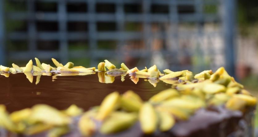 baking, cake, sponge, grill, grilling, German, besthomecook, homecook, home cook, philip friend, philip friend, bake off, bakeoff, GBBO, japaneseweek, japanese week, food, foodie, recipe, Amaretto, orange, nuts, chocolate, glaze,pistachios