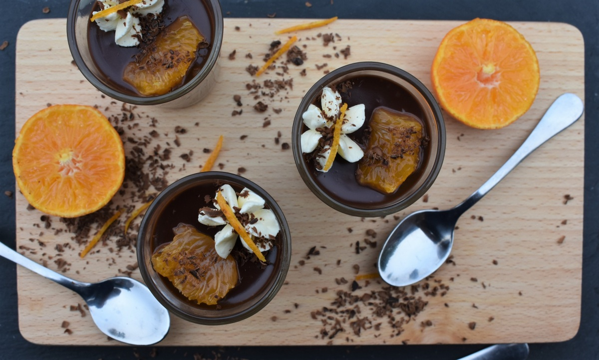 Chocolate, orange & ginger pots