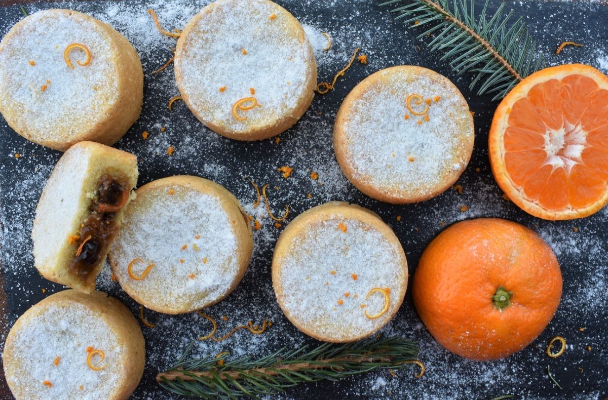 Carrot & caraway mince pies with smoked sugar