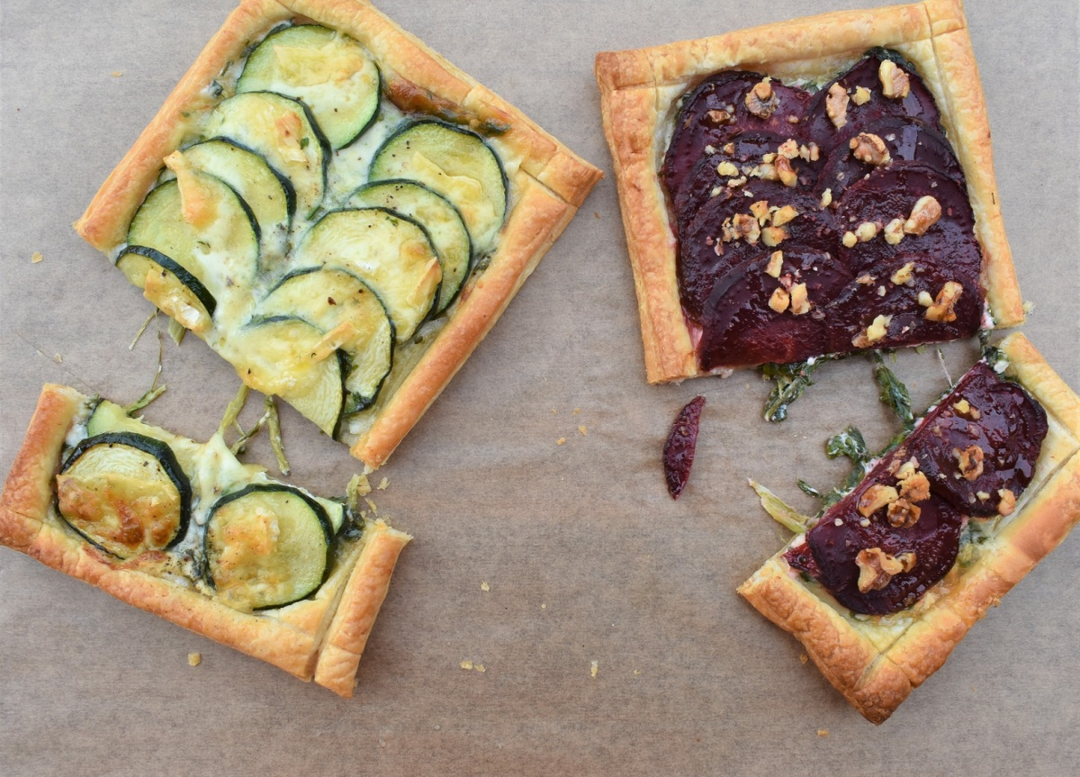 Simple vegetable tarts